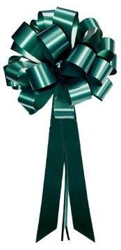 Hunter Green Pull Bows with Tails – 8″ Wide, Set of 6, St. Patrick's Day, Chri ...