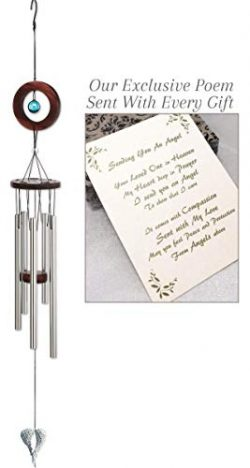 On Angel's Wings Sympathy Gift Wind Chime to Send for Funeral Or Memorial When Someone Los ...