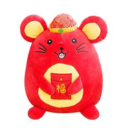 Cute Chinese Mouse Year Cartoon Rat Plushed Animal Toy, 2020 Year of The Rat Mascot New Year Gif ...