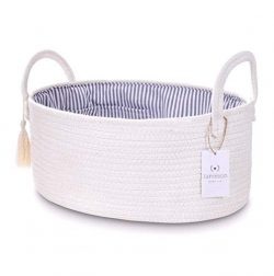 Jameson Baby Co. Rope Diaper Caddy Organizer – Extra Large Nursery Storage Bin – Car ...
