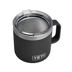 YETI Rambler 14 oz Stainless Steel Vacuum Insulated Mug with Lid, Black