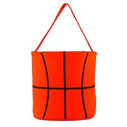 E-FirstFeeling Basketball Basket Easter Basket Easter Hunt Bag for Kids Candy Gift Bucket Tote C ...