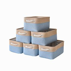 pulnimus Fabric Storage Baskets Set [6 Pack],Small Storage Bins,Nursery Baskets 12″x 8R ...