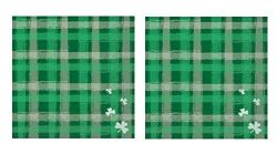 Lucky Prep St Patrick's Day 3-Ply Paper Cocktail Napkins 40-Count, Saint Paddy's Bar ...