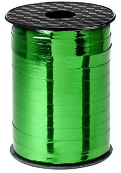 Green Curling Ribbon Metallic Crimped for St Pattys Day Gift Wrapping Curls, St Patricks Day Rib ...