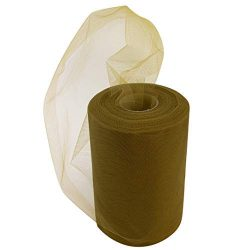 Olive Green Tulle Fall Decor – 6″ x 100 Yards, Fabric Netting Ribbon, Easter, St. Pa ...
