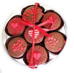 Olde Naples I LOVE YOU Chocolate Dipped Oreo Cookies Gift Basket, 7pc Hand Decorated Cookies Ass ...