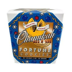 Chanukah (Hanukkah) Fortune Cookies Gift Box | Vanilla Flavor | 8 Pieces Individually Wrapped |  ...