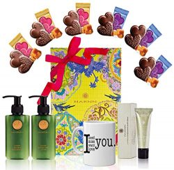 Valentines Day Gift Basket – Woman Body Set Valentines Mugs, Heart Chocolate Mix – P ...