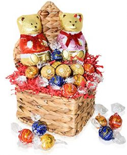 Valentine's Day Gift Basket – Chocolate Gifts for Him and Her – Large Bears an ...