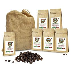Java Planet – Coffee Beans, Organic Coffee Sampler Pack in Burlap Bag, Whole Bean Variety  ...