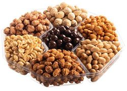 Holiday Gourmet Nuts and Chocolate Gift Tray, Birthday, Christmas – New Year, Family Parti ...