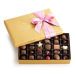 Godiva Chocolatier Assorted Chocolate Gold Gift Box, Pink Ribbon, Gifts for Her, Chocolate Gifts ...