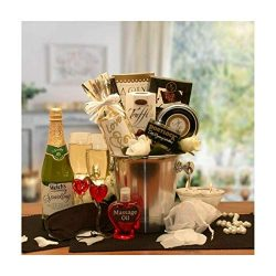 Baga Goodies Deluxe Romantic Evening for Two Gift Basket Silver
