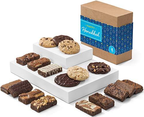 Fairytale Brownies Hanukkah Cookie & Sprite Combo Gourmet Chocolate Kosher Food Gift Basket  ...