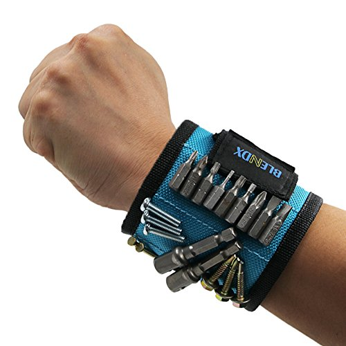 Magnetic Wristband, BLENDX Men Gifts Tool with Strong Magnets for Holding Screws, Nails, Drill B ...