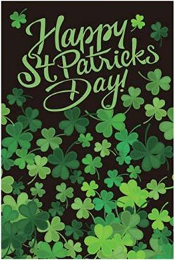 GiftWrap Etc. St. Patrick's Day Garden Flag – 12″ x 18″, Evergreen Clove ...