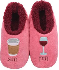 Snoozies Pairables Womens Slippers – House Slippers – AM/PM – Medium