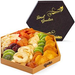 Gourmet Dried Fruit Gift Basket Fresh, Healthy food Snacks for Family, Man and Woman | Assorted  ...