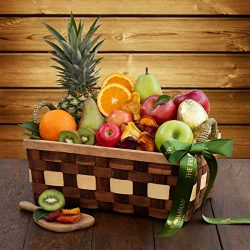 The Fruit Company Simply Fruit Basket – 14 Pieces Premium Fresh Fruit and a Dried Fruit Me ...