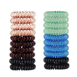 20 Pack Plastic Hair Ties St. Patrick's Day hair accessories for Women and Girls,KICOFIT S ...