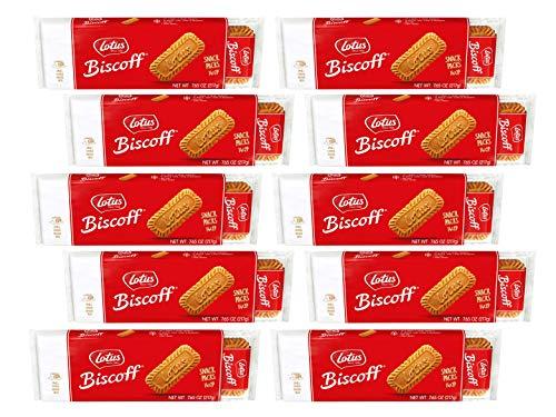 Lotus Biscoff – European Biscuit Cookies – 7.65 Ounce x 10 Retail Packs – 14 T ...