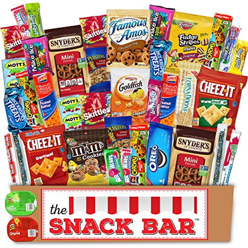 The Snack Bar – Snack Care Package (40 count) – Variety Assortment with American Can ...