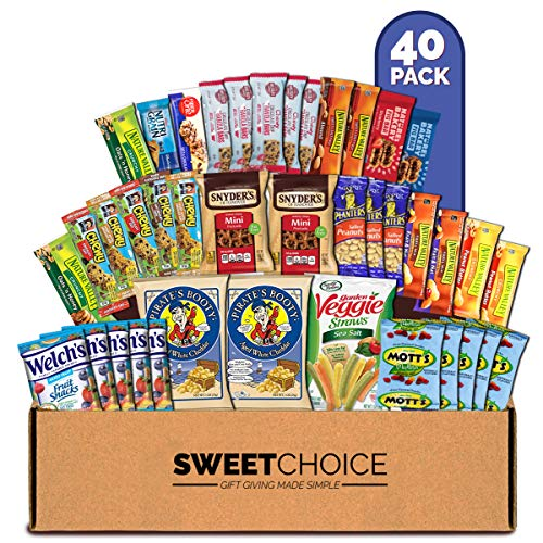 Healthy Care Package (40 Count) Natural Bars Nuts Fruit Health Nutritious Snacks Variety Gift Bo ...