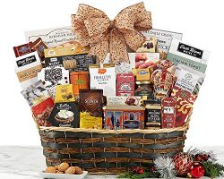Christmas Gift Basket Token of Appreciation Grand Gourmet Gift Basket Holiday Gift Basket For Hi ...