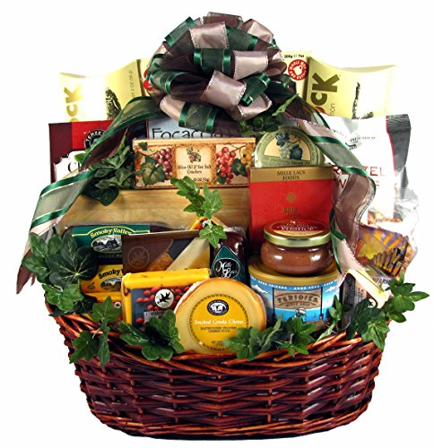 Group Therapy, Deluxe Gourmet Gift Basket for Groups with Meats and Cheeses, Smoked Salmon, Cook ...