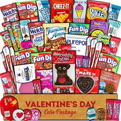 Valentine's Day Care Package (45ct) – Snacks, Chocolates, Candy Gift Box – Ass ...