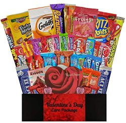 40 CT Valentines Day Care Package – Valentine Gifts for Him, Her, College Students, Kids,  ...