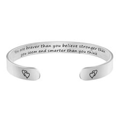 Joycuff Encouragement Gifts for Women You are Braver Than You Believe Stronger Than You Seem and ...
