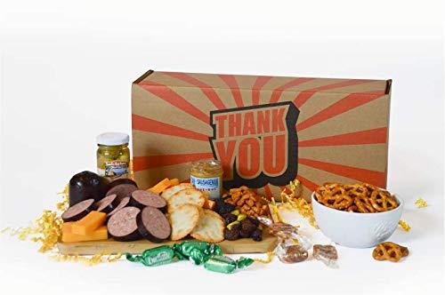 Dan the Sausageman's Thank You Gift Basket -Featuring100% Beef Summer Sausage, Wisconsin C ...