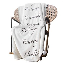 Plant Based Pros Healing Blanket with Inspirational Message of Love Hope Happiness Health – ...