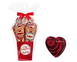 "Popcornopolis Valentine's Day ""Roses"" Mini 5-Cone Popcorn Gift Basket, Gluten  ..."