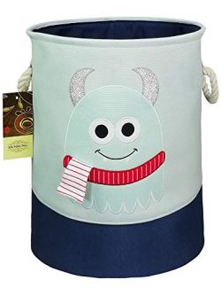 HUNRUNG Easter Gift Basket Large Laundry Hamper,Cartoon Organizer Bin for Baby Nursery,Toys,Laun ...