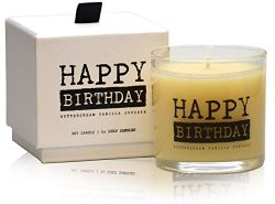 Lulu Candles | Buttercream Vanilla Cupcake | Happy Birthday | Luxury Scented Soy Jar Candles | H ...