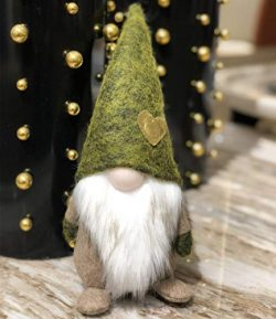 Christmas Green St Patrick's Day Handmade Gnome Plush Standing Figurine for Spring, Irish  ...