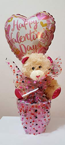 Valentines Day Gift Basket Set | 7 Inch Teddy Bear Plush (COLOR VARY) Kisses milk chocolate, Hea ...