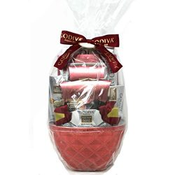 Godiva Gift Basket – Chocolate Assortment (Burgundy)