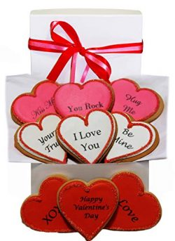 Valentine's Day Gift Basket 9 Romantic Love Sayings Decorated Cookie Boy, Girl, Friend, St ...