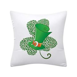Euone  Throw Pillow Case,St. Patrick's Day Print Pillow Covers 18×18 inch for Home De ...