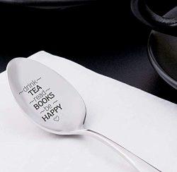 Boston Creative company LLC Drink Tea Read Books Spoon-Tea Lover Spoon – Book Lover Gift & ...