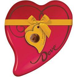 DOVE Valentine's Day Caramel Milk Chocolate Truffles Heart Gift Box 9.82-Ounce Tin 24 Pieces