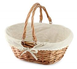 Cornucopia Wicker Basket with Handles (Natural Color), for Easter, Picnics, Gifts, Home Decor an ...