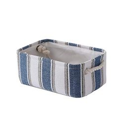 TheWarmHome Small Storage Basket Fabric Toy Basket Baby Storage Basket Dog Toy Basket Decorative ...
