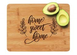Engraved Cutting Board – Home Sweet Home: a Perfect Gift for Housewarming or as a Closing  ...