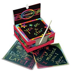 Melissa & Doug Scratch Art Box of Rainbow Mini Notes – The Original (Arts & Crafts ...