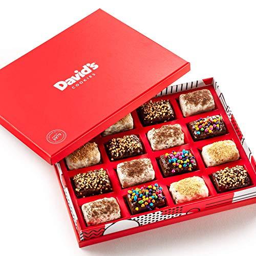 New! David's Cookies Fresh-Baked Brownie Bites Gift Baskets, 1.1oz Mini Chocolate-Covered  ...